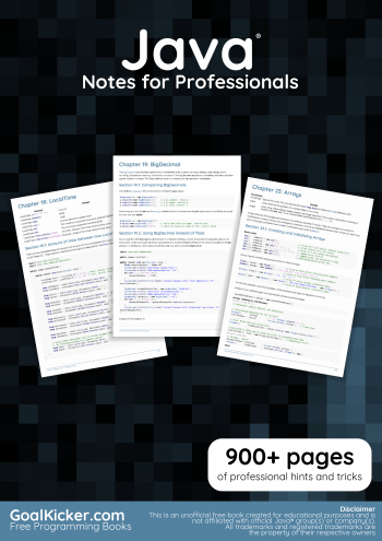 Download Java Notes For Professionals