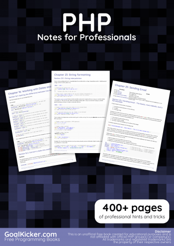 Downoad PHP Notes For Professionals