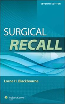 Surgical Recall by Blackbourne MD 7th Edition pdf