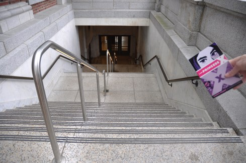 The many, many stairs that lead down into the the King Street Station.