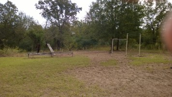 This appears to be the remains of the playground equipment.