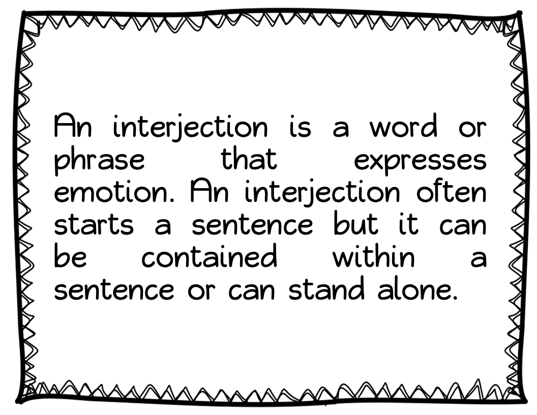 Parts Of Speech Interjections
