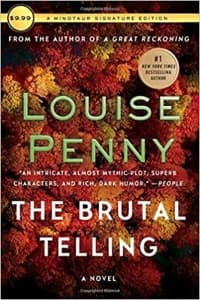 """""""The Brutal Telling"""" by Louise Penny (Book cover)"""