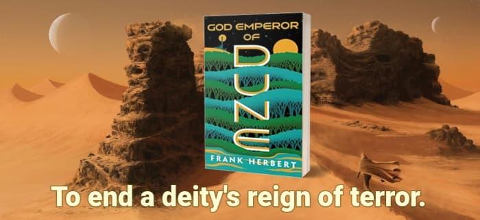 """""""God Emperor of Dune"""" by Frank Herbert (Header image)"""
