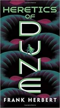 """Heretics of Dune"" by Frank Herbert (Book cover)"