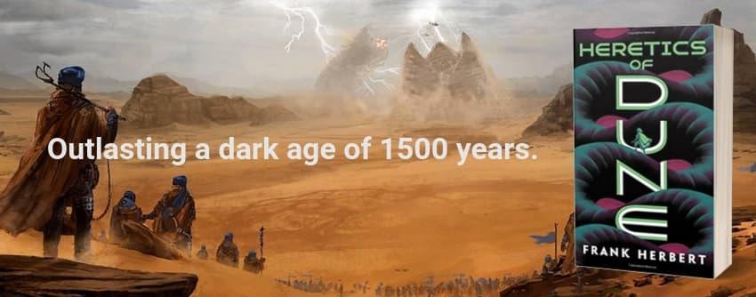 """""""Heretics of Dune"""" by Frank Herbert (Header image)"""