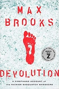 """Devolution"" by Max Brooks (Book cover)"