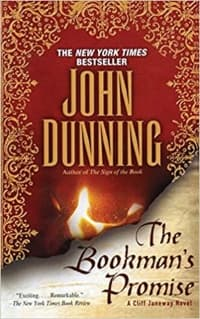 """""""The Bookman's Promise"""" by John Dunning (Book cover)"""