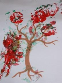 Apple painting tree