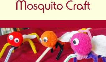 Buzzing Mosquito Craft for Children