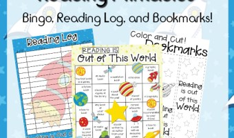 Reading Bingo and Color Your Own Bookmarks