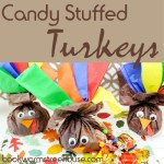 Candy Stuffed Turkey Craft and 10 Turkey Books to Read