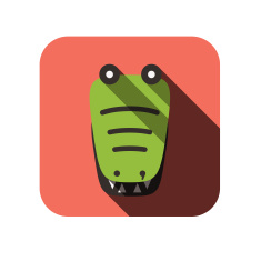 stock-illustration-27798787-crocodile-face-flat-icon-design-animal-icons-series