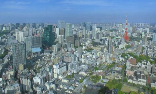 六本木ヒルズ森タワー52階から見た景色