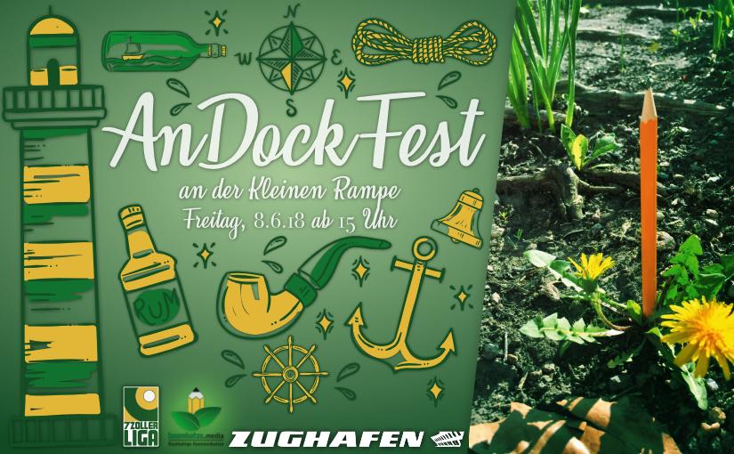 Am 8.6. wird feierlich am Zughafen angedockt: AnDockFest!