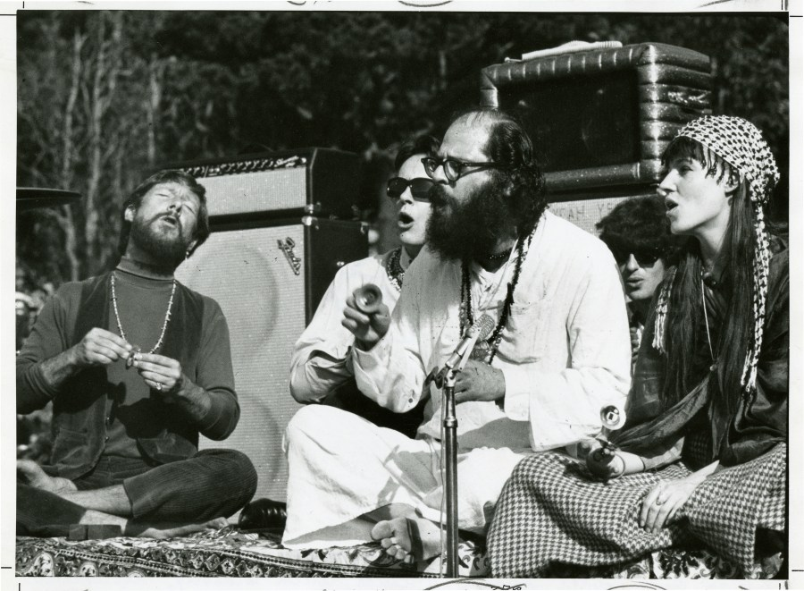 [l to r: Gary Snyder, Michael McClure, Allen Ginsberg, Freewheel
