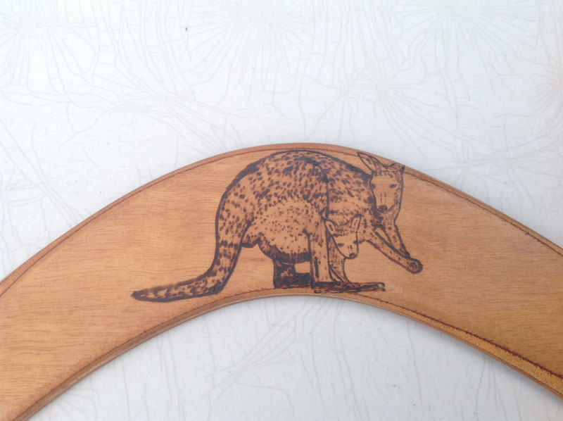 Kangaroo Burnt Art