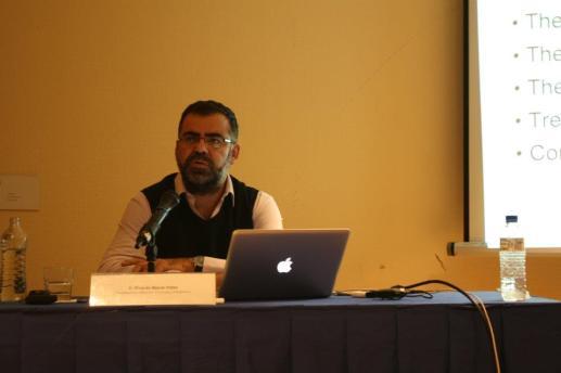 Ricardo Baeza de Yahoo en su presentación en la Inauguración de la I Semana Impulso TIC 2011 en el Auditorio Principe Felipe de Oviedo