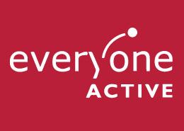 Leisure Centre advertising Everyone Active Logo