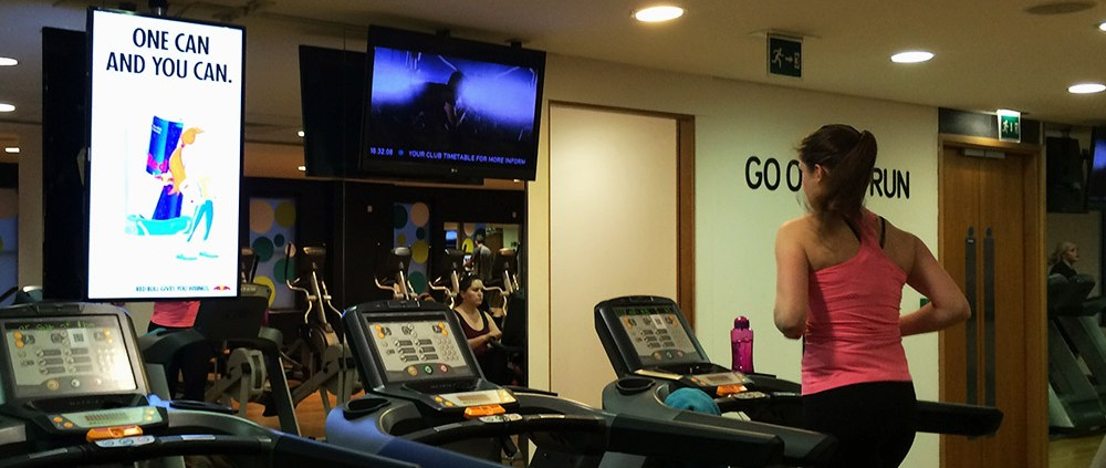 Red bull D6 advertising in health club