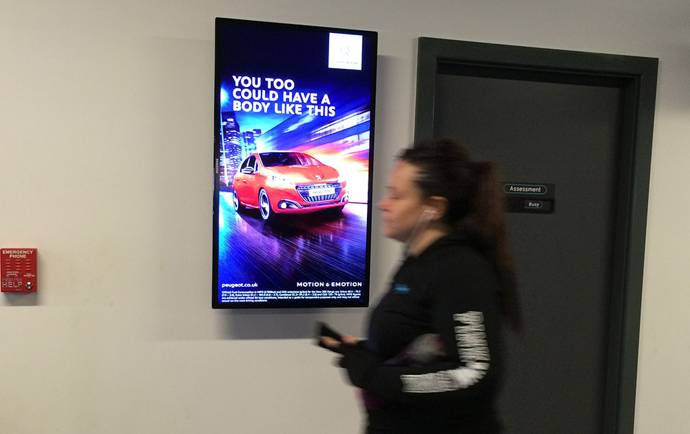 Peugeot D6 advertising at health club