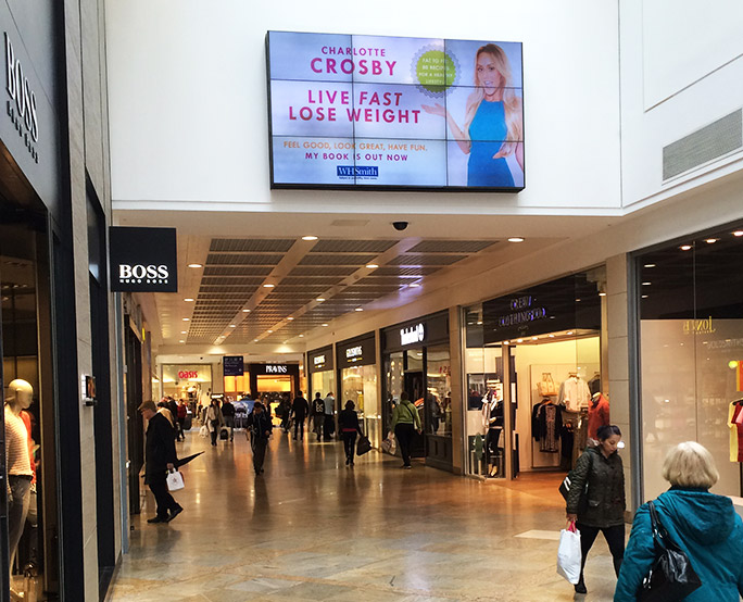 live fast lose weight iconic in busy shopping centre