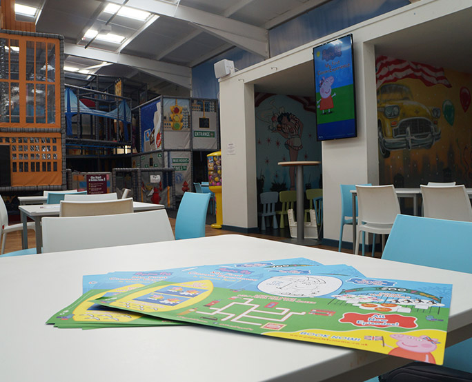 Peppa pig ambient place mats in lunch area