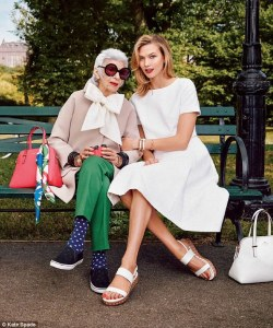 The ninety-three-year-old supermodel (the one on the left. . .)