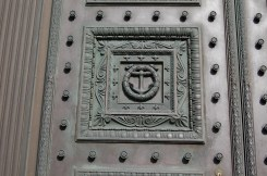 Detail of Old Stone Bank Door
