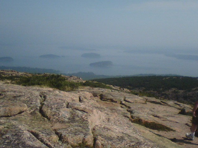 View from the road along Cadillac Mountain Arcadia National Park