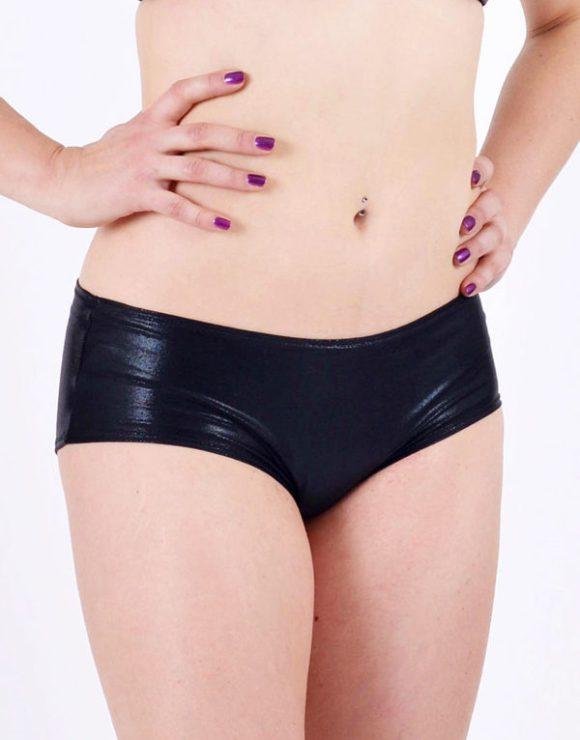 Pole dance shorts: Jade - Shiny Black - BoomKats.com