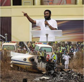 How popular Abuja based Prophet Dr Emmanuel Omale Prophesied Sunday plane crash