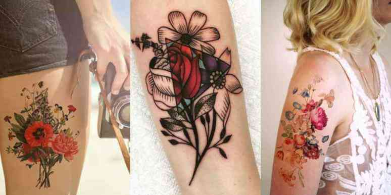 ziedu tetovējumi