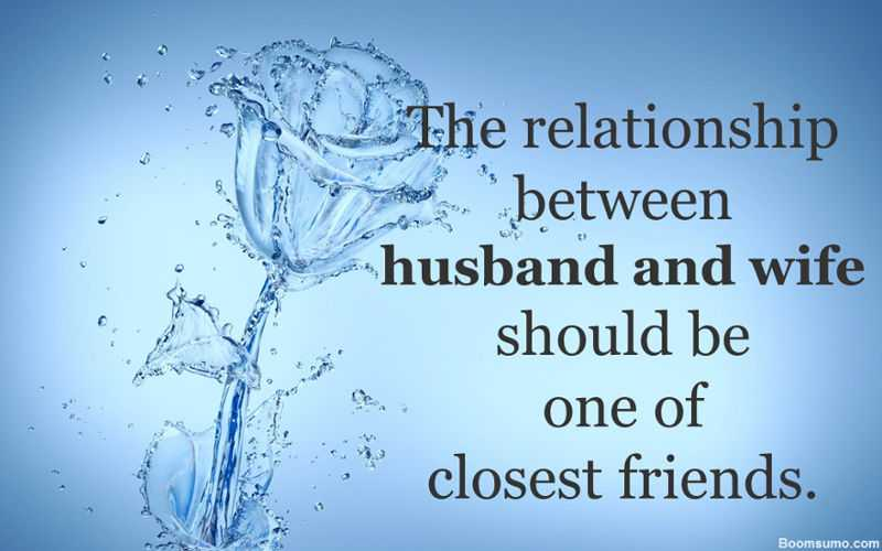 good relationship between wife and husband