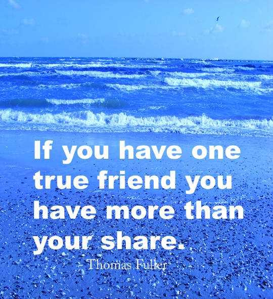 true friend you