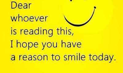 Good Day Quotes hope, Dear Whoever Simple Smile Today