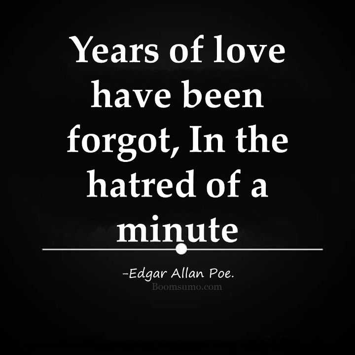 Hatred Of A Minute, Years Of Love Forgot