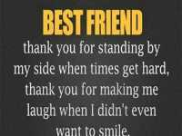 best friend forever quotes - Best friend message thank you for standing