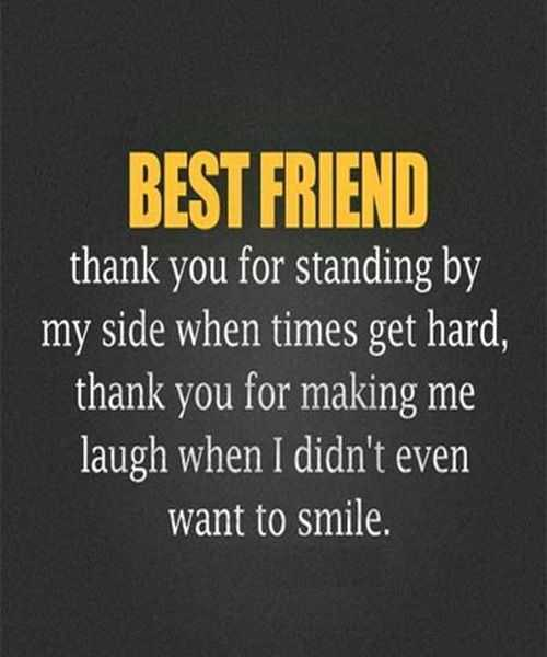 Best Friend Forever Quotes Best Friend Thank You For Standing