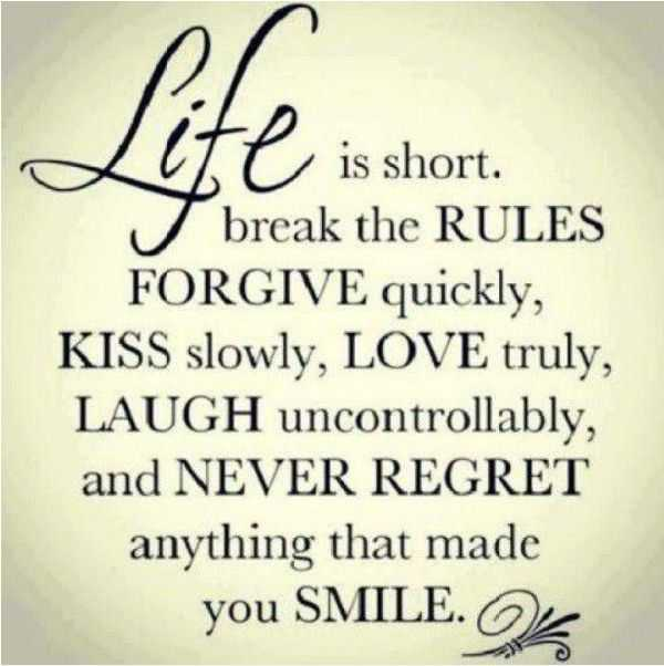 Positive Quotes About Life Rules Smile U2013 Cute Relationship Life