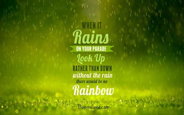 Inspirational Thoughts Sayings About Life When It Rain Look Up