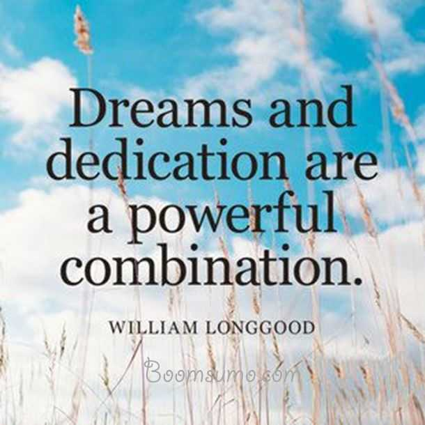 Positive Dreams Quotes About Life Dreams And Dedication Life