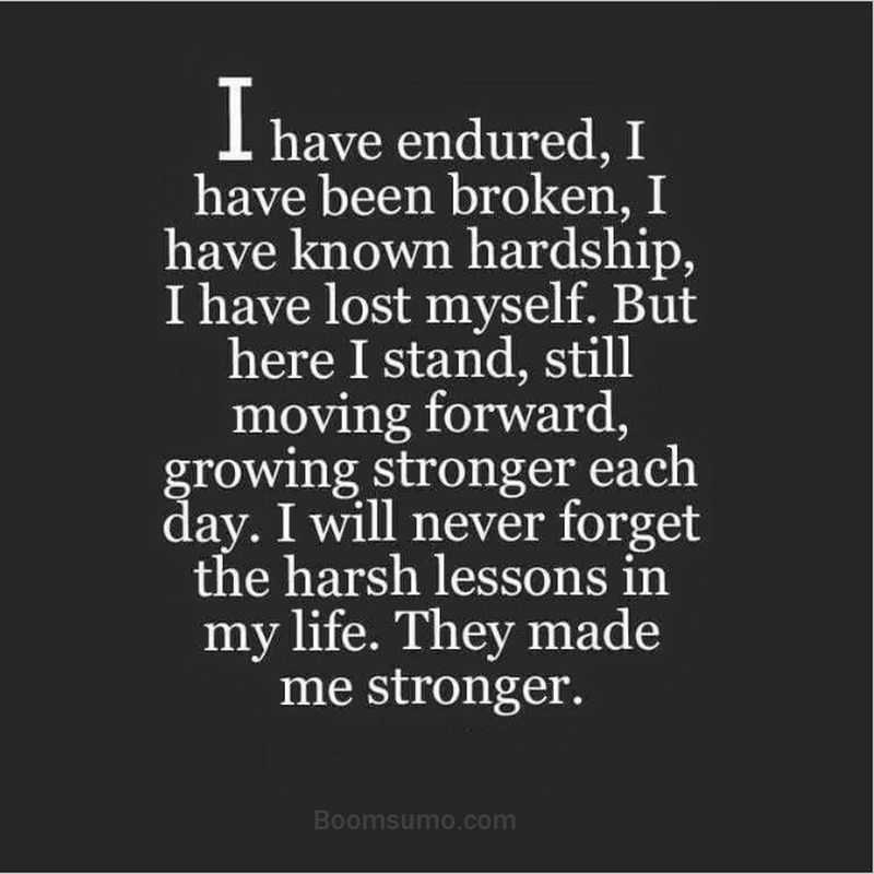 Strength Quotes: Short Strength Quotes I Have Endured, Never Forgot Life