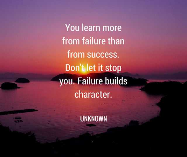 Inspirational Quotes About Failure: Inspirational Quotes: How To Learn From Failure