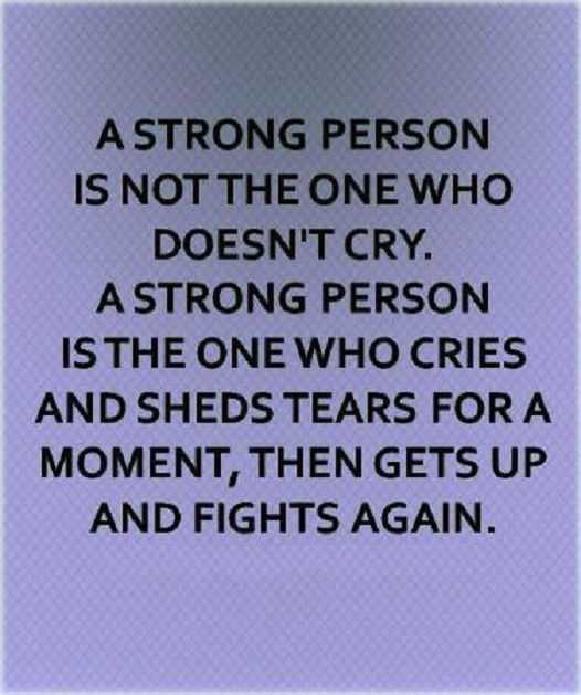 Inspirational Life Quotes: A Strong Person Who Gets Up Fight Again