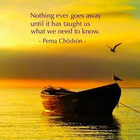 Inspirational life quotes What We need to know, Nothing goes Away