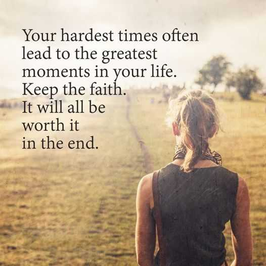 Words Of Encouragement Life Quotes About Keep Faith Lead To The