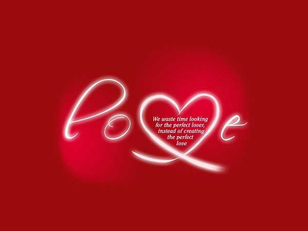 Love Quotes About Love I Never Waste Time Looking For The Perfect