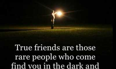 best quotes about friendship True Friends Rare people Who Come Find You From Dark