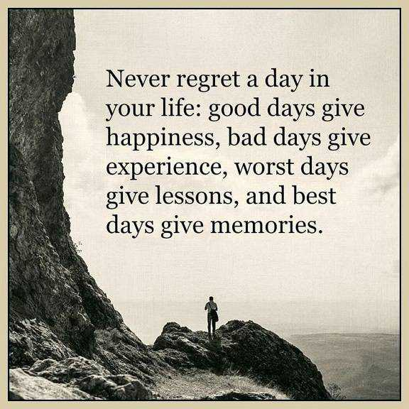 Best Life Quotes About Happiness Never Regret Day Life Best Day